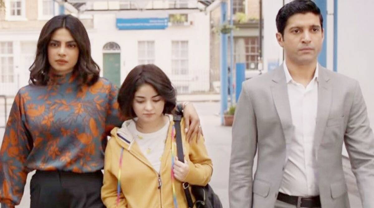 Zaira Wasim act as a Aisha Chaudhary in The Sky Is Pink movie.