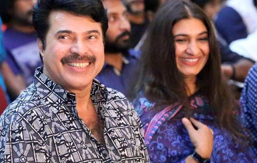 Mammootty with his wife Sulfath Kutty