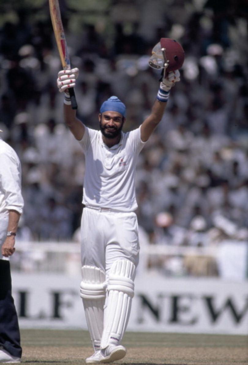Navjot Singh Sidhu scores a century