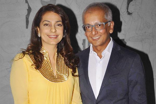 Jay Mehta with wife Juhi Chawla