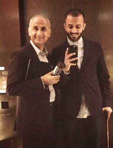 Anand-Ahuja-with-his-father Father :-Harish Ahuja (Businessman)