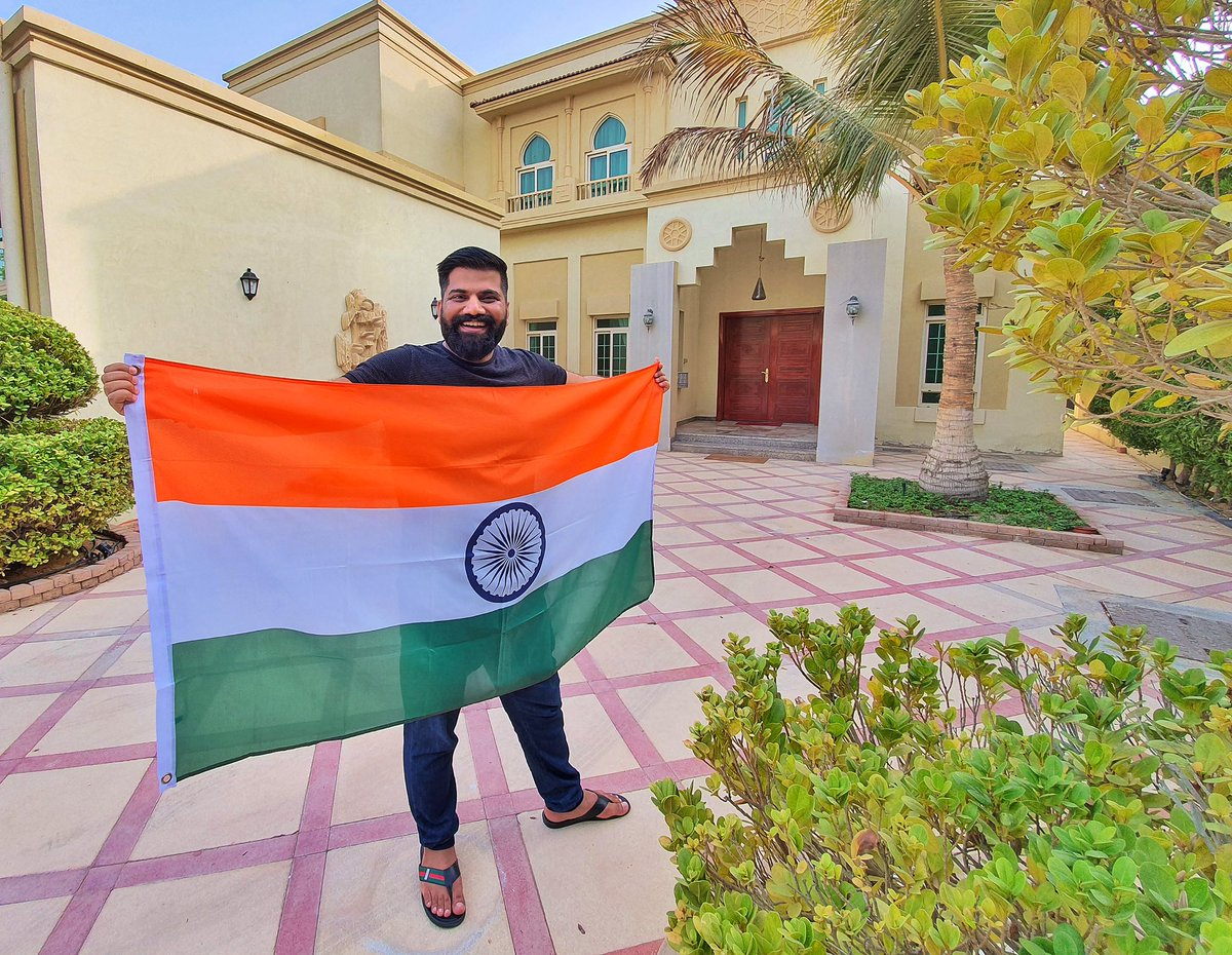 Technical Guruji with flag