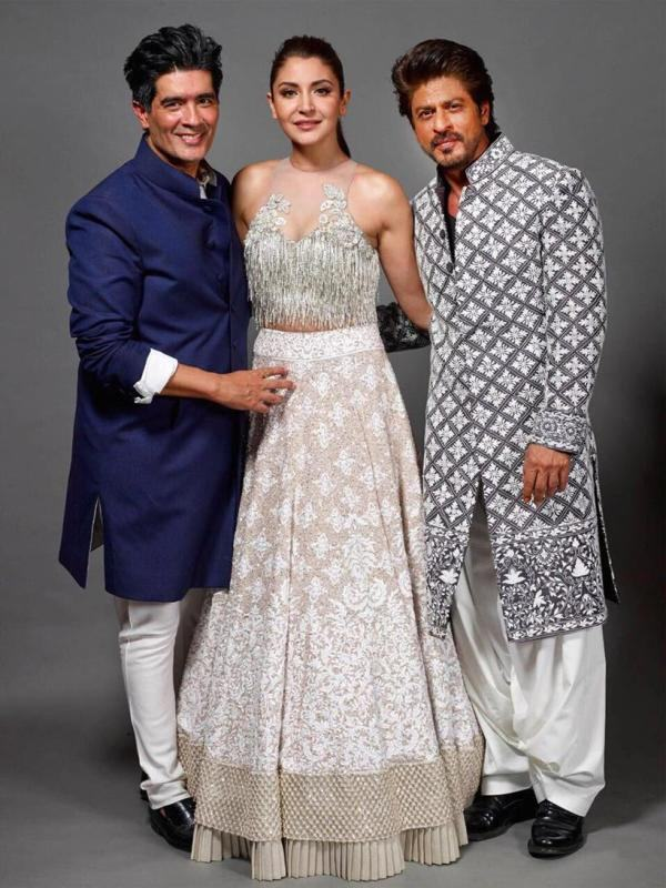 Manish Malhotra, Anushka Sharma and Shah Rukh KHan