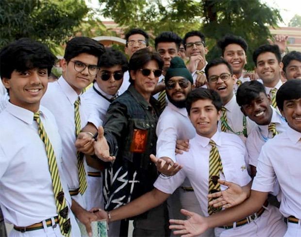 Shahrukh khan visited St. Columba's School