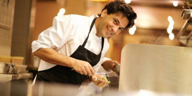 Vikas Khanna image smile in chef dress
