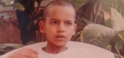 Childhood image of Shikhar Dhawan