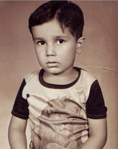 childhood image of Randeep Hooda :