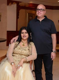 Lalitha Jewellery Owner, Kiran Kumar with his wife