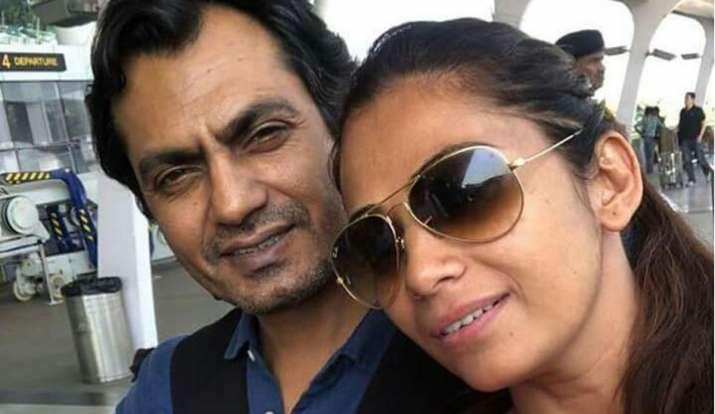 Nawazuddin Siddiqui with his wife
