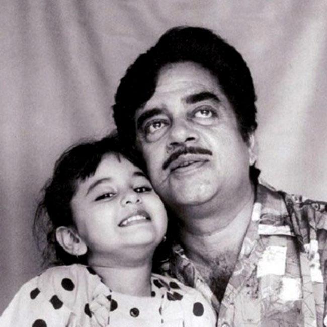 Childhood image of Sonakshi Sinha