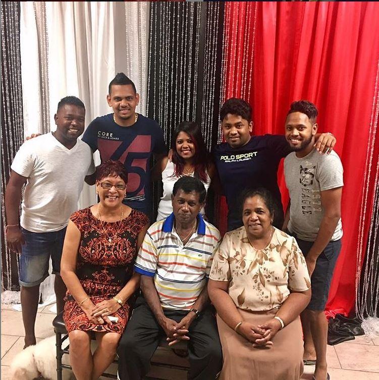 Sunil Narine family images