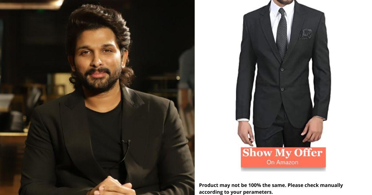 Allu Arjun in black blazer