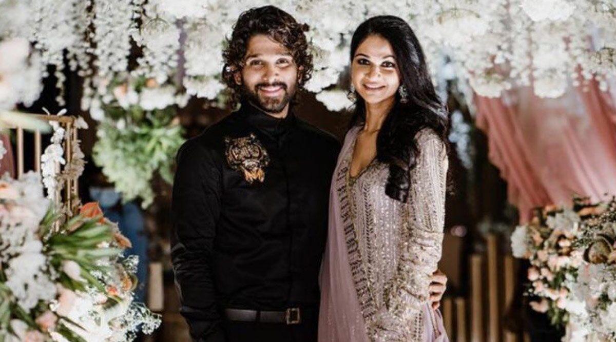 Allu Arjun and Sneha Reddy (wife)