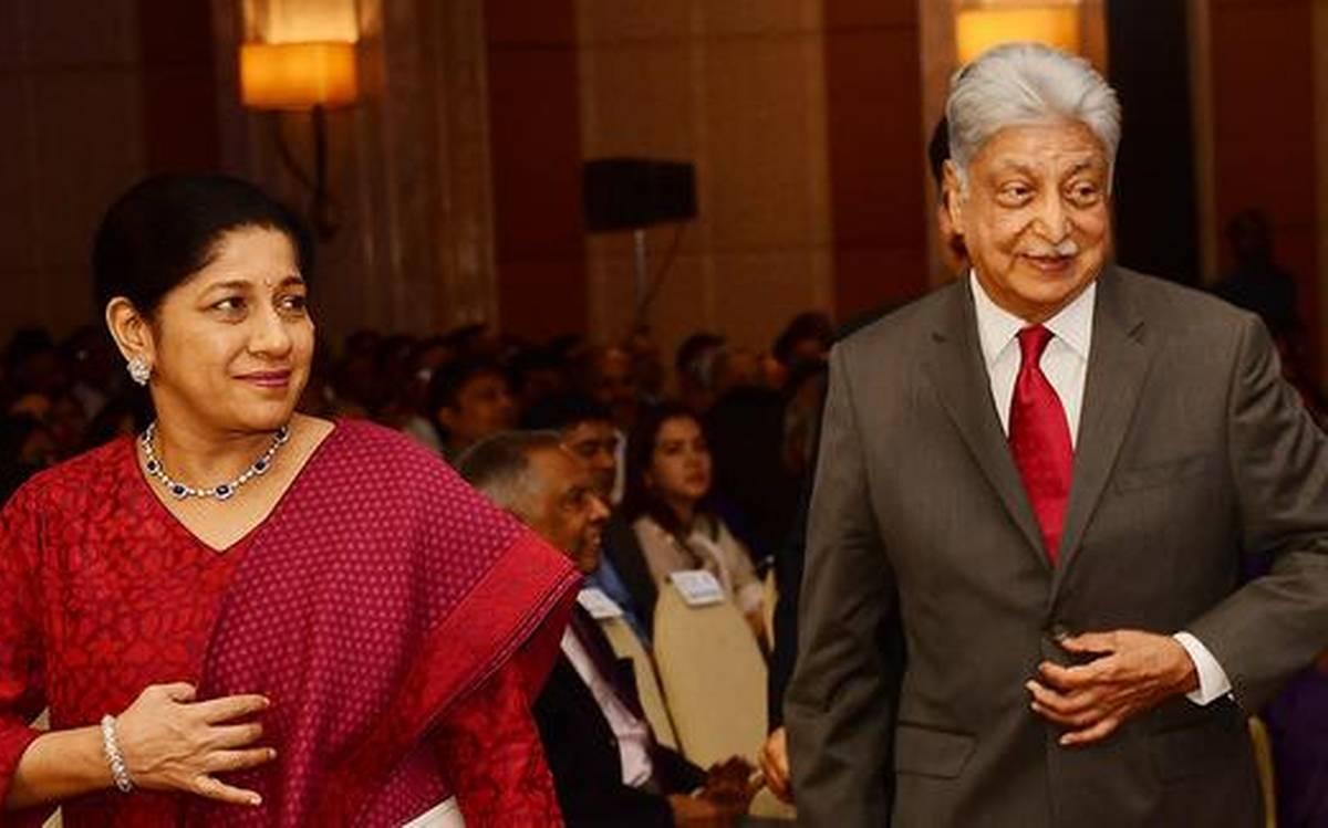 Azim Premji and Yasmeen Premji