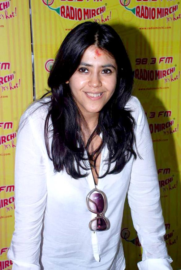 Ekta Kapoor smiling