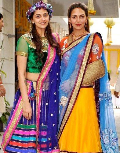 Esha Deol and Ahana Deol (from 2nd wife)