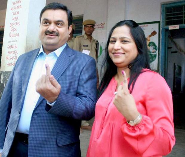 Gautam Adani and Priti Adani