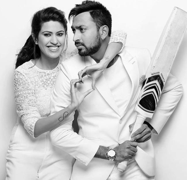 Krunal Pandy Wife :-Pankhuri Sharma (Model)