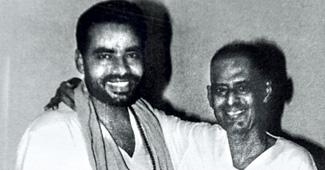 Narendra Modi and his father