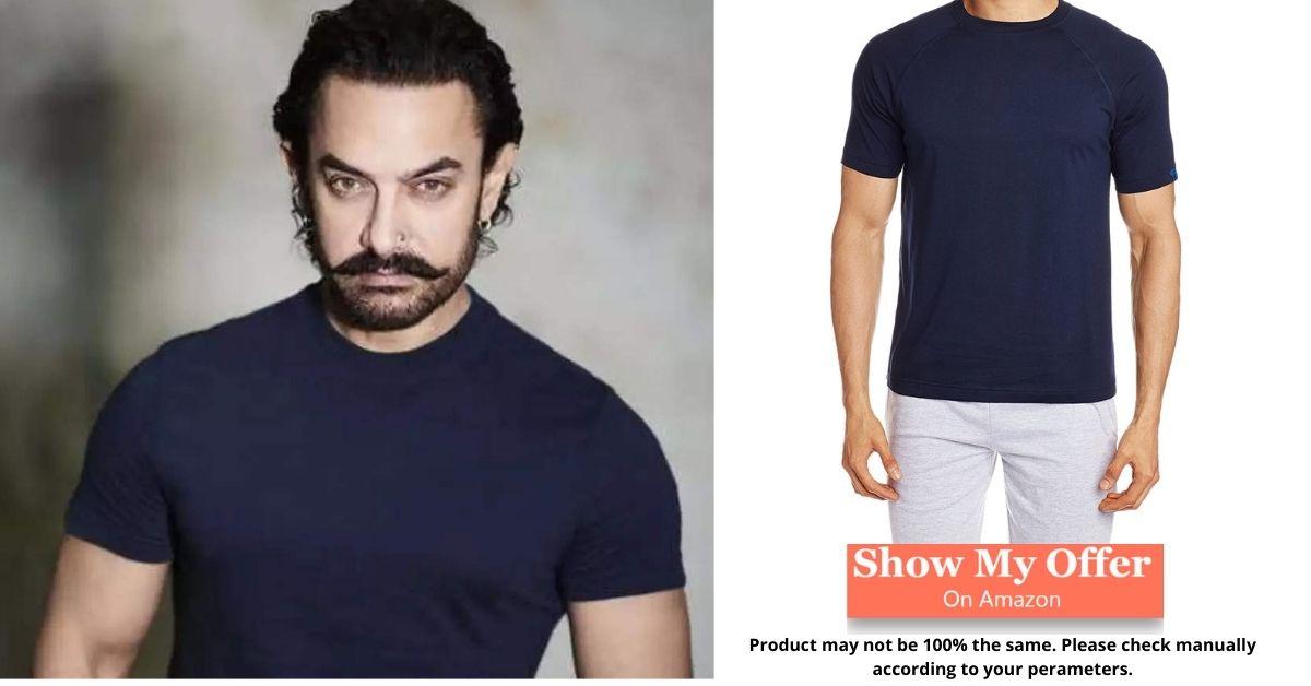 Aamir khan in Blue T-shirt