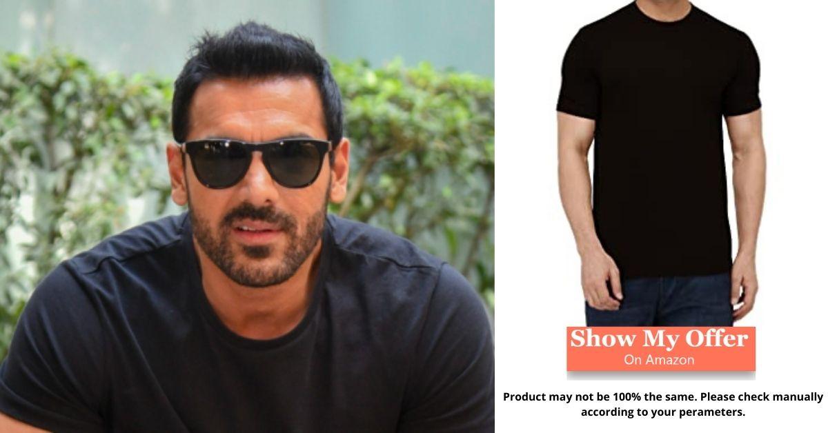 John_Abraham in Black T-Shirt