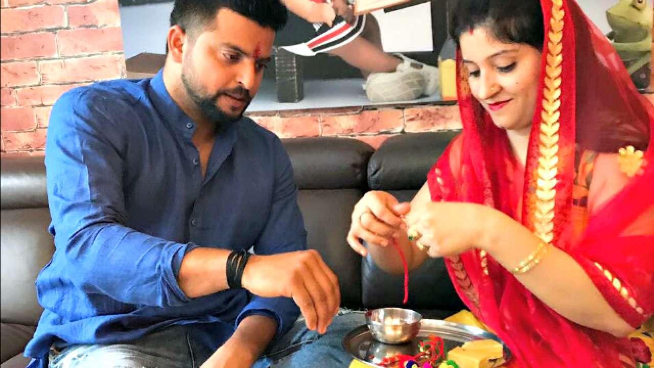 Suresh Raina and sister Renu Raina