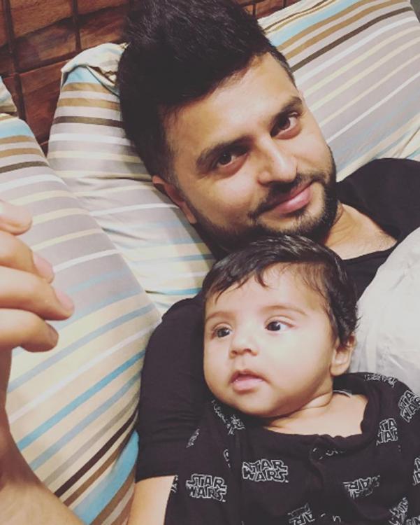 Suresh Raina and Daughter Gracia Raina