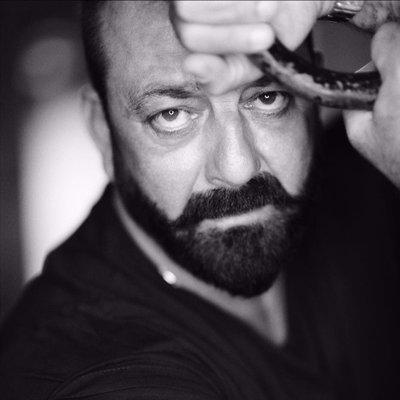 Sanjay Dutt Black and White Image