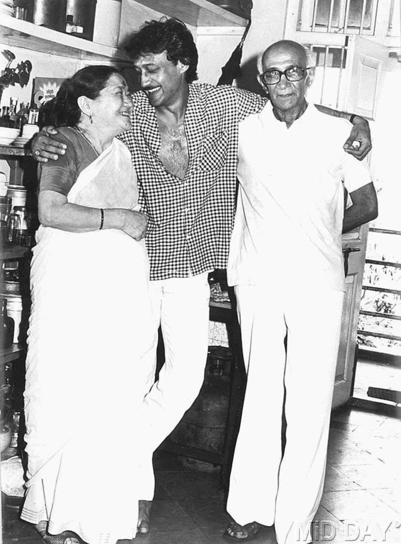 jackie shroff with father and mother