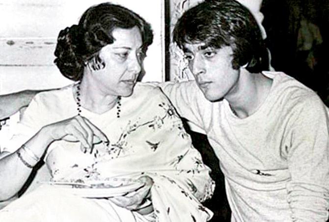 sanjay dutt and Nargis Dutt