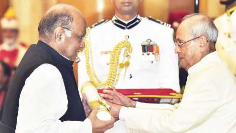 In 2017, Pawar was honored with the Padma Vibhushan