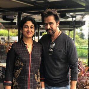Arjun Sarja's Wife :- Niveditha Arjun (m. 1988)
