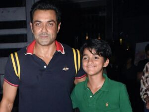 Bobby Deol and his son Dharam Deol
