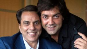Bobby Deol and father Dharmendra
