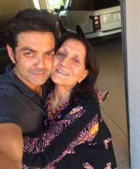 Bobby Deol and his mother Prakash Kaur (Real Mother)