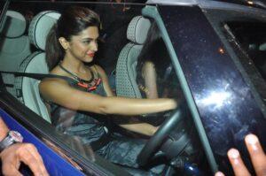 Deepika Padukone in her car