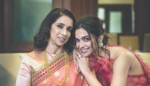 Deepika Padukone with her mother