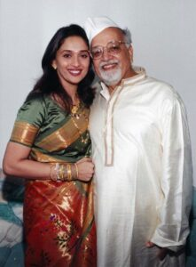 Madhuri Dixit and her father Shankar Dixit