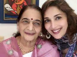 Madhuri Dixit and her mother Snehlata Dixit