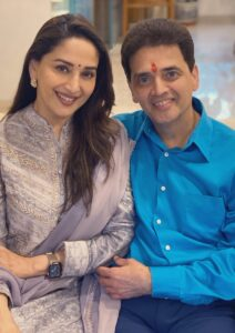 Madhuri Dixit and her brother Ajit Dixit