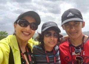 Madhuri Dixit and her sons Raayan Nene & Arin Nene