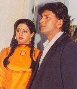 Mithun ChakrabortY'S WIFE Sridevi (1985- 1988)