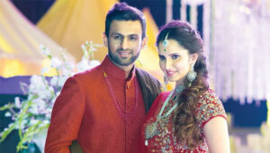 Sania Mirza with her husband