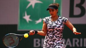 Sania Mirza while playing