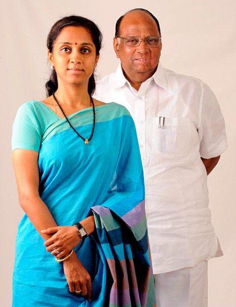 Sharad Pawar and daughter Supriya Sule