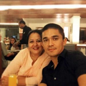 Sunil Chhetri and his mother Sushila Chhetri
