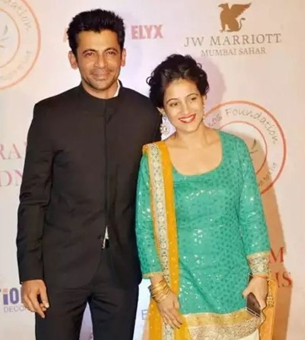 Sunil Grover and Aarti Grover