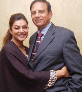 Sushmita Sen's Father :-Shubeer Sen (former Indian Air Force Wing Commander)