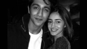 Ananya Pandey's brother with her