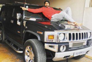 Harbhajan Singh on Car